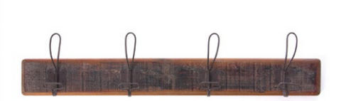Vintage Look Wood Coat Rack - Little Prairie Girl