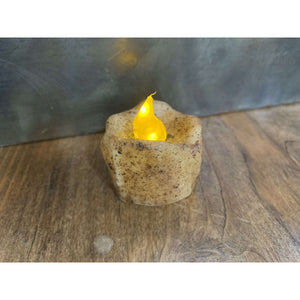 "Antique Faux Melted Flameless Candle - 1"" - Little Prairie Girl"