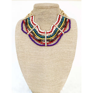 Beaded statement necklace - Little Prairie Girl