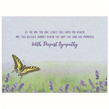 Butterfly in lavender sympathy card - Little Prairie Girl