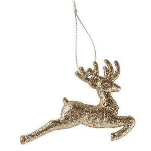 Christmas Ornament - Running Deer - Little Prairie Girl