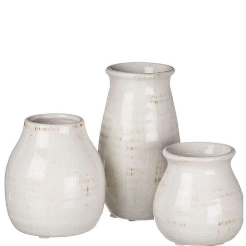 Cream Vase Set - Little Prairie Girl