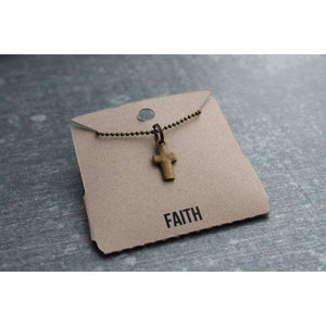 Faith cross charm necklace - Little Prairie Girl