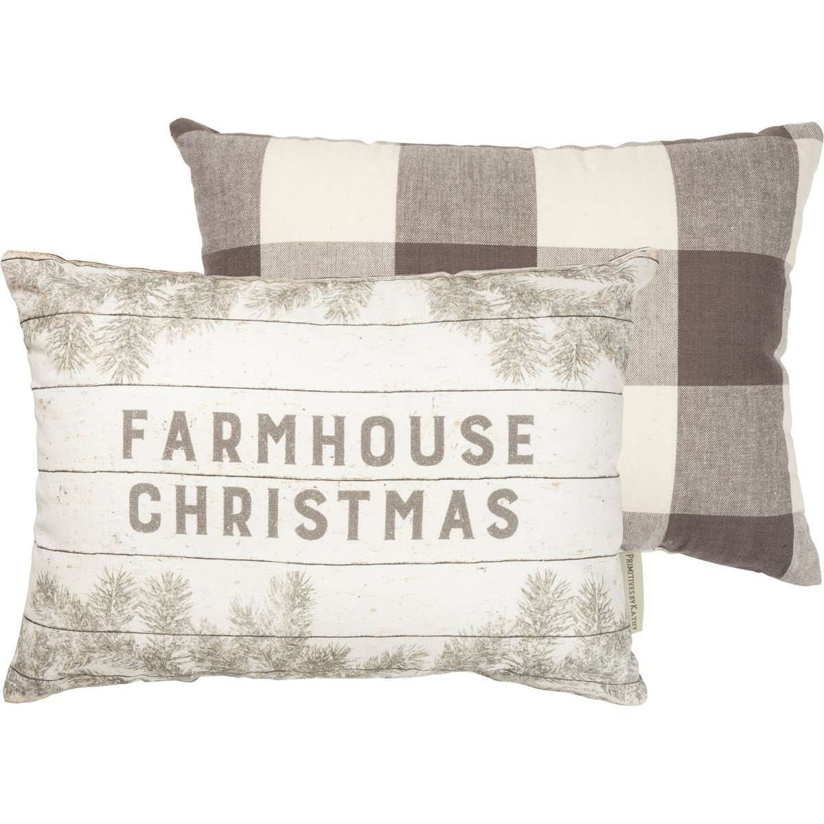Farmhouse Christmas Pillow - Little Prairie Girl
