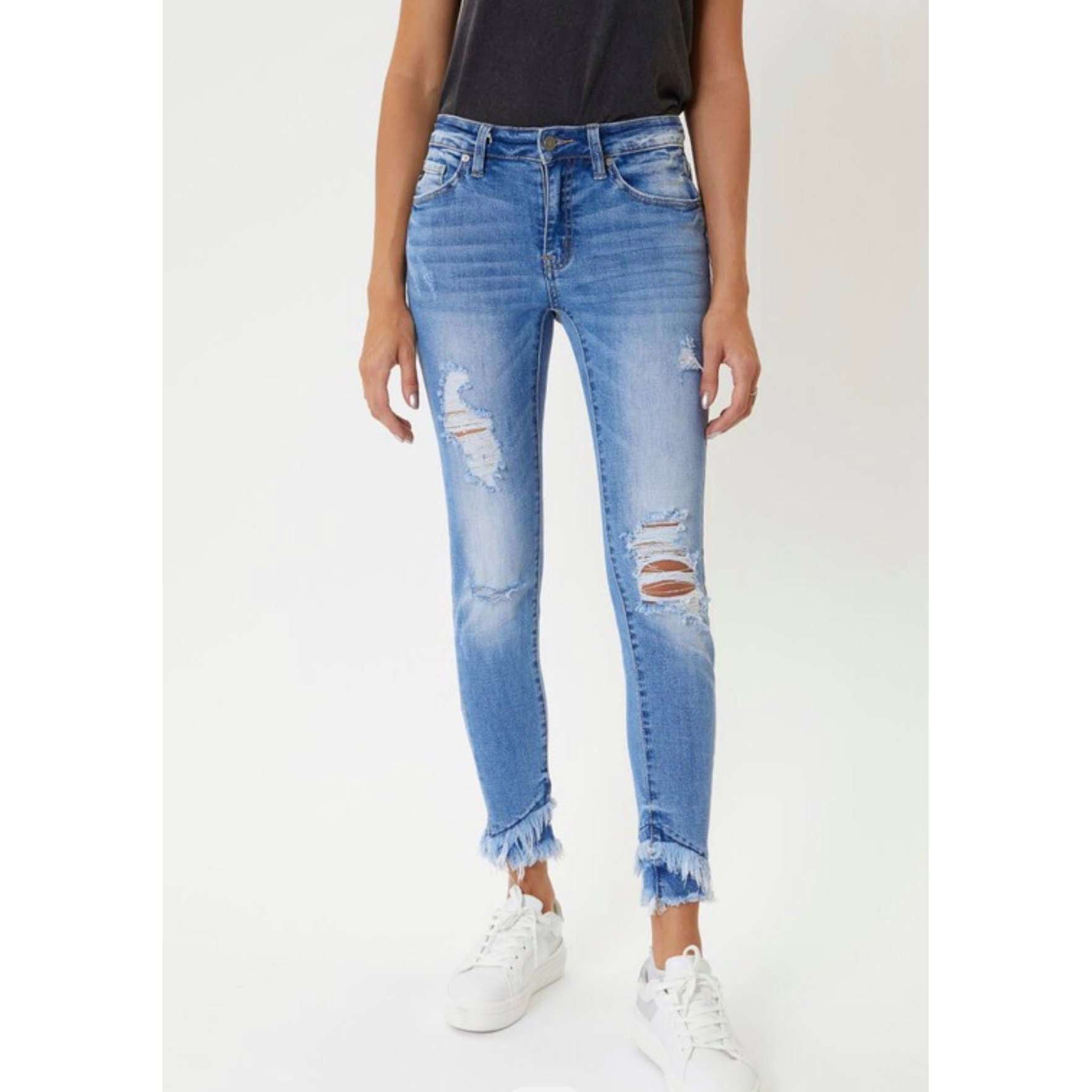 Gemma Mid Rise Ankle Skinny