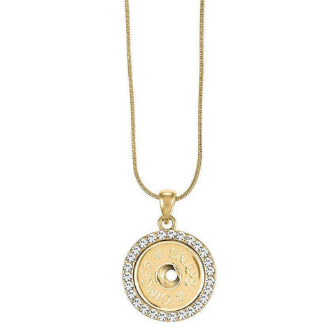 Gold Bling Gingersnap Pendent Necklace - Little Prairie Girl