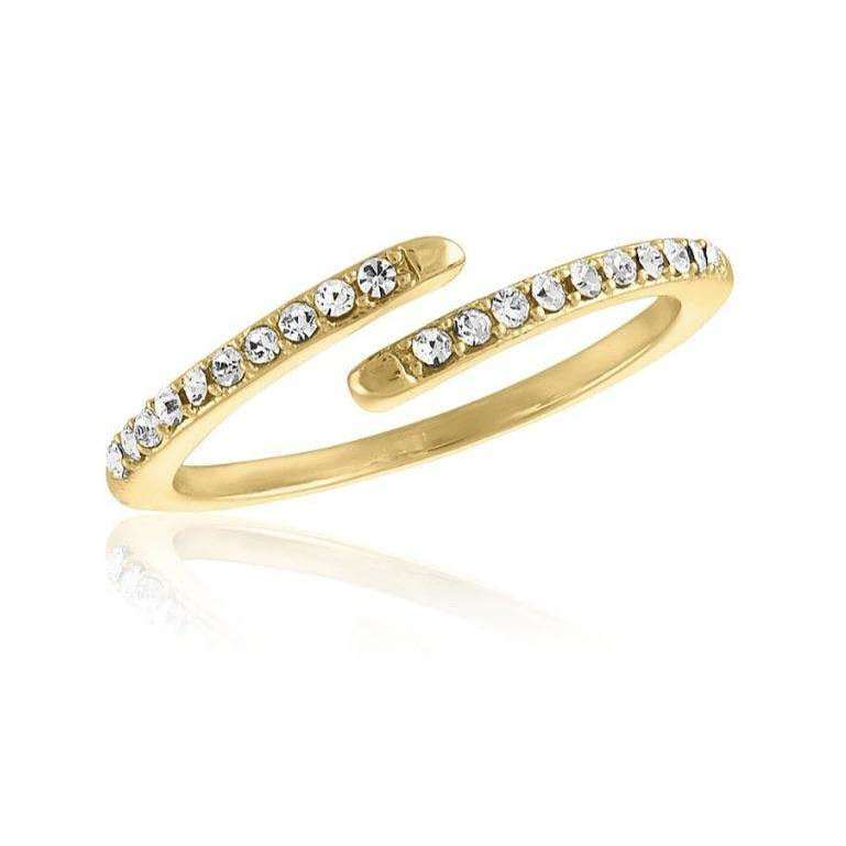 Gold Plated Wrap CZ Stackable Ring - Little Prairie Girl