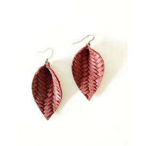 Joanna Leather Pleated Earring - Little Prairie Girl