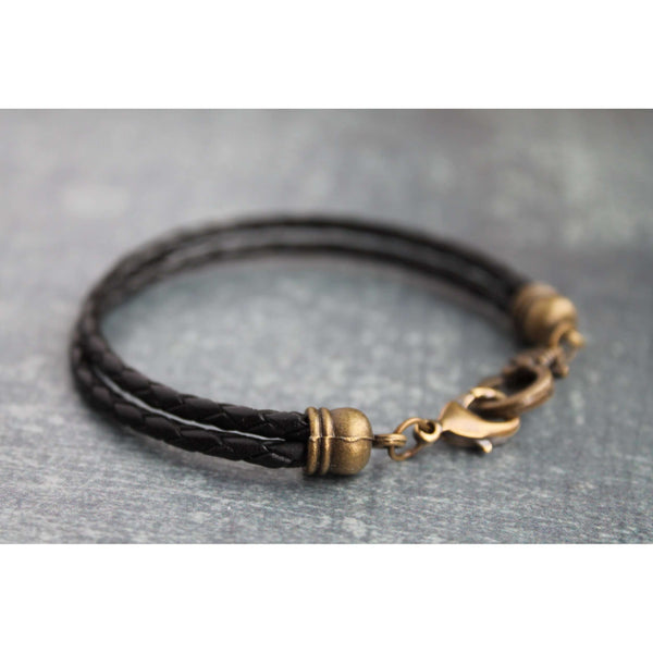 KD Charms braided leather bracelet