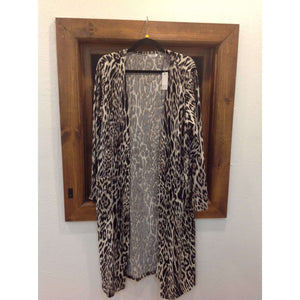 Leopard Print Cardigan (2XL+3XL) - Little Prairie Girl