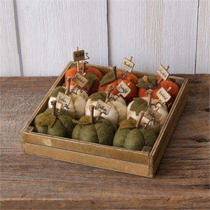 Mini cloth pumpkins
