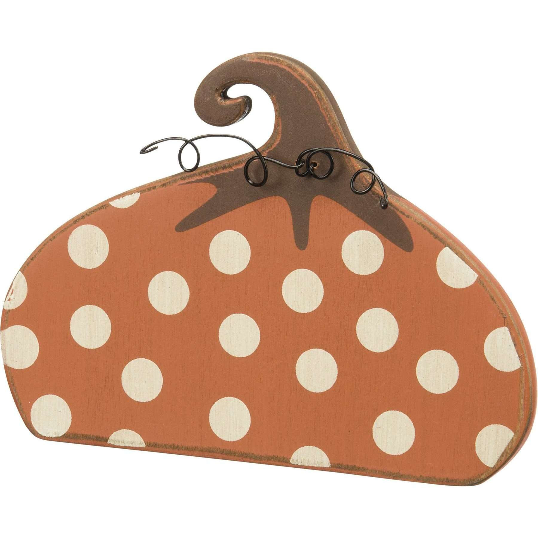 Polka Dot Pumpkin - Little Prairie Girl