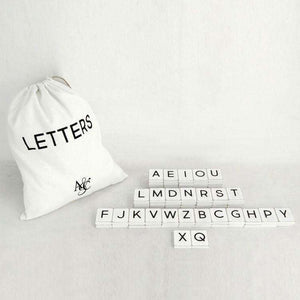 Scrabble Letter & Number Letterboard Tiles - Little Prairie Girl
