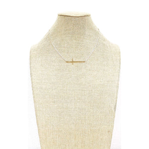 Sideways Cross Necklace - Little Prairie Girl