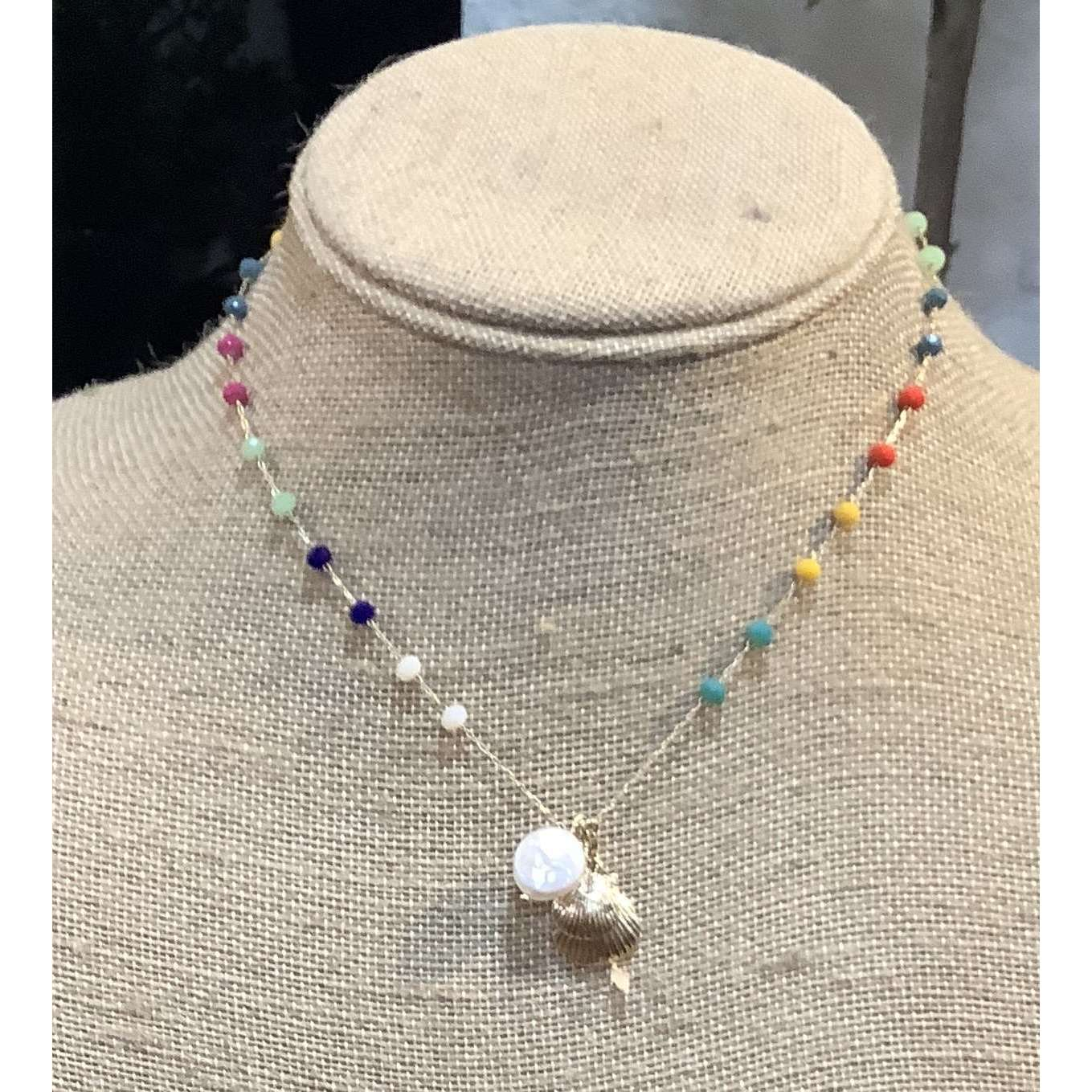 Small multi-color necklace - Little Prairie Girl