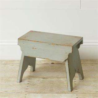 Small robins egg blue stool - Little Prairie Girl