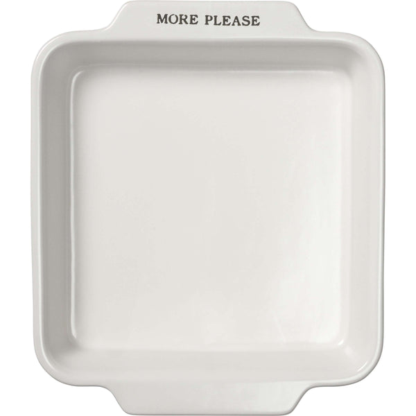 "Square Baker Set - ""More Please"" - Little Prairie Girl"