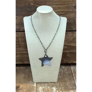 Tin Star Necklace - Little Prairie Girl