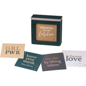 Words of Wisdom Box - Little Prairie Girl
