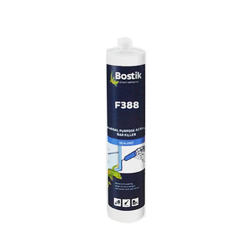 Bostik F388 Water-Based Acrylic Sealant 450G (White)