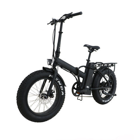 Fat tire folding ebike
