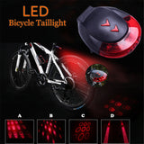 Hot Sale Bicycle USB Charging Laser Bicycle Taillight 5 LED Parallel Line Projection Taillight Safety Warning Light