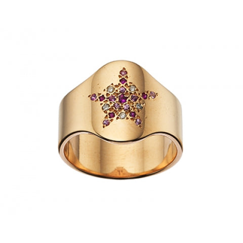 CAROLINA BUCCI PAVÉ SHIELD RING