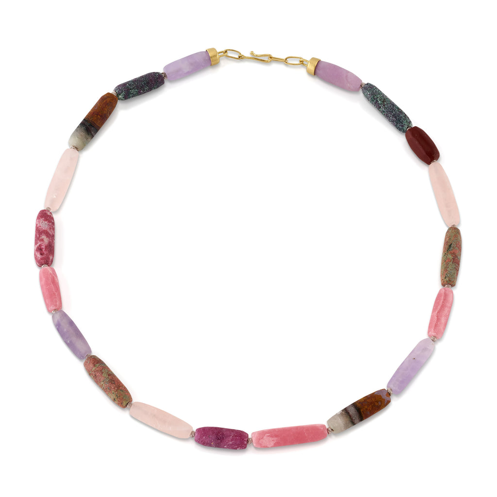 HONED BEADED GEMSTONE NECKLACE