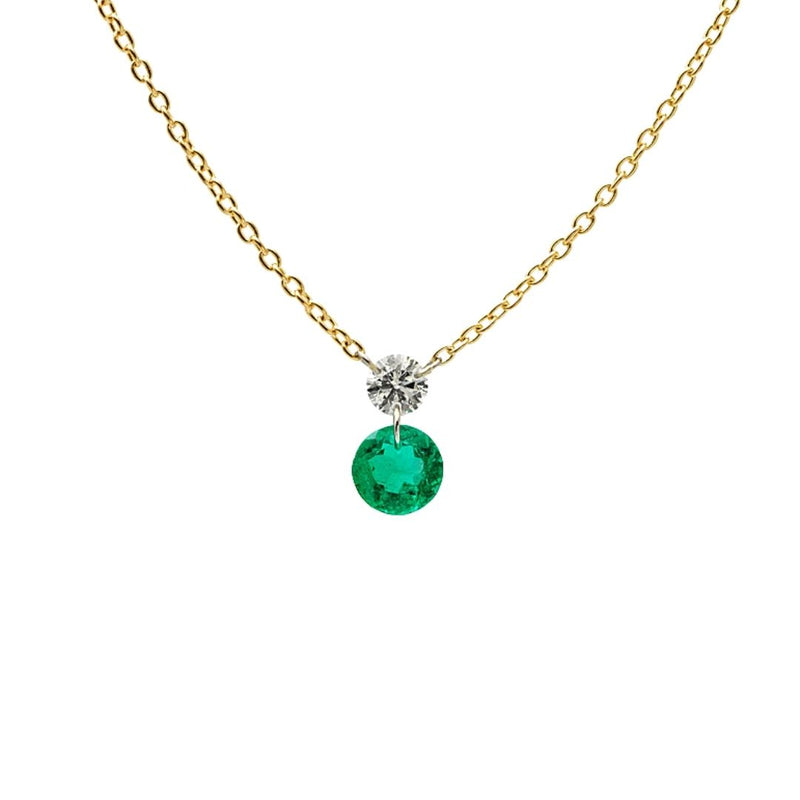 DUET EMERALD NECKLACE