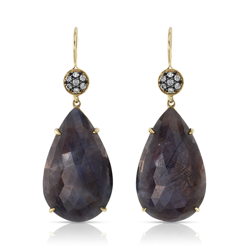 LAUREN K GREY SAPPHIRE EARRINGS