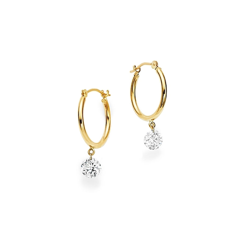 GYPSY SOLO DIAMOND ROUND HOOPS