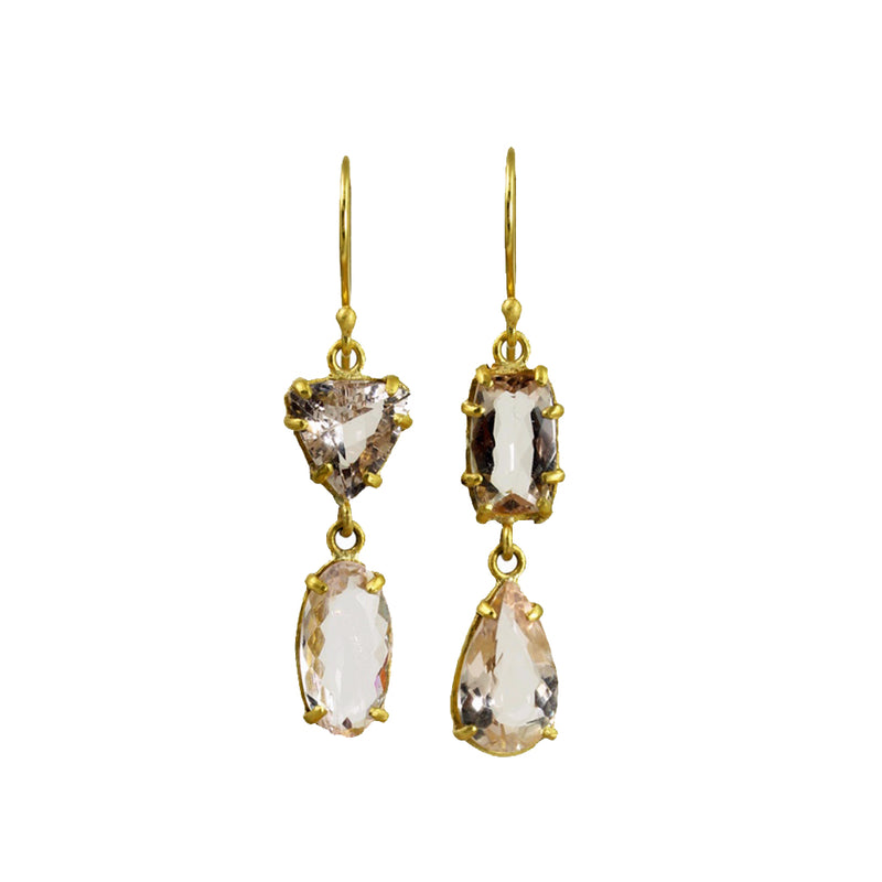 MARGERY HIRSCHEY MORGANITE EARRINGS