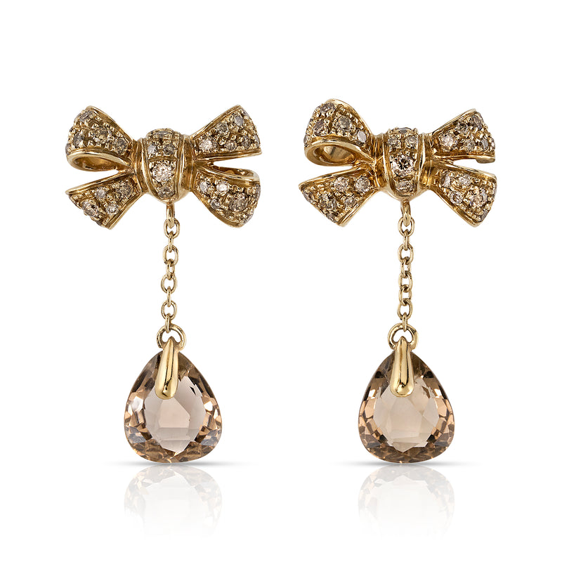 POMELLATO COGNAC BOW EARRINGS