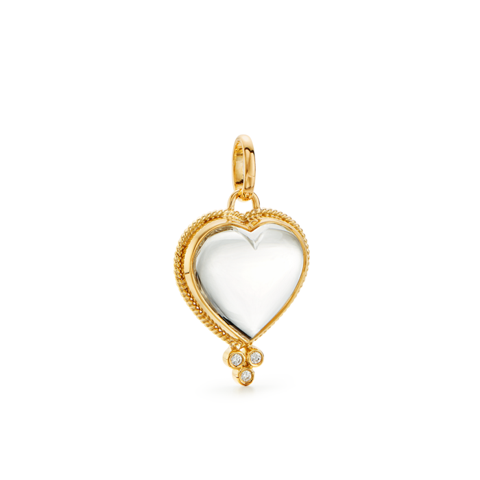 ROCK CRYSTAL HEART PENDANT