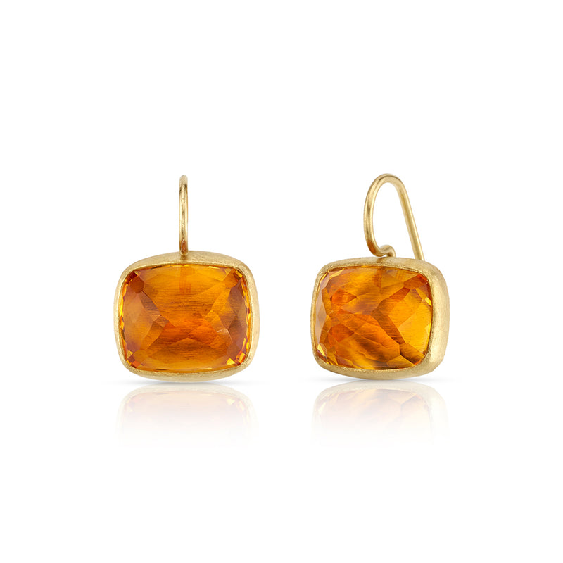 CITRINE COCKTAIL EARRING