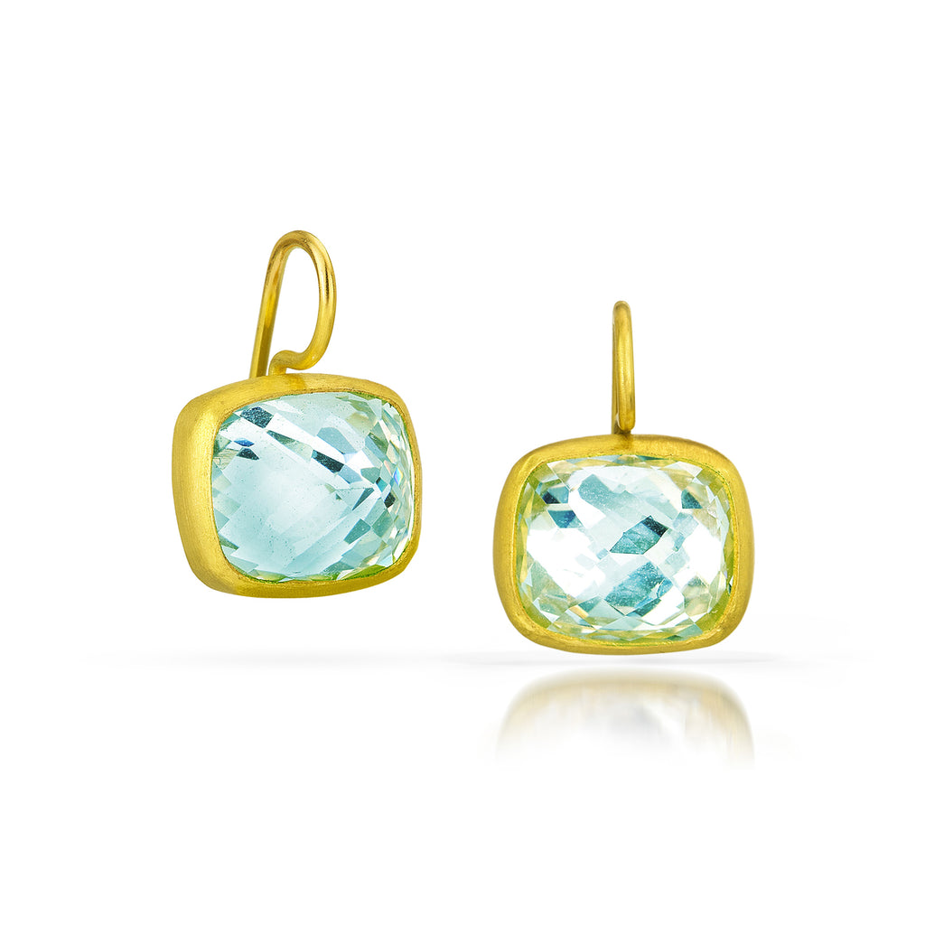 AQUA BLUE TOPAZ COCKTAIL EARRING