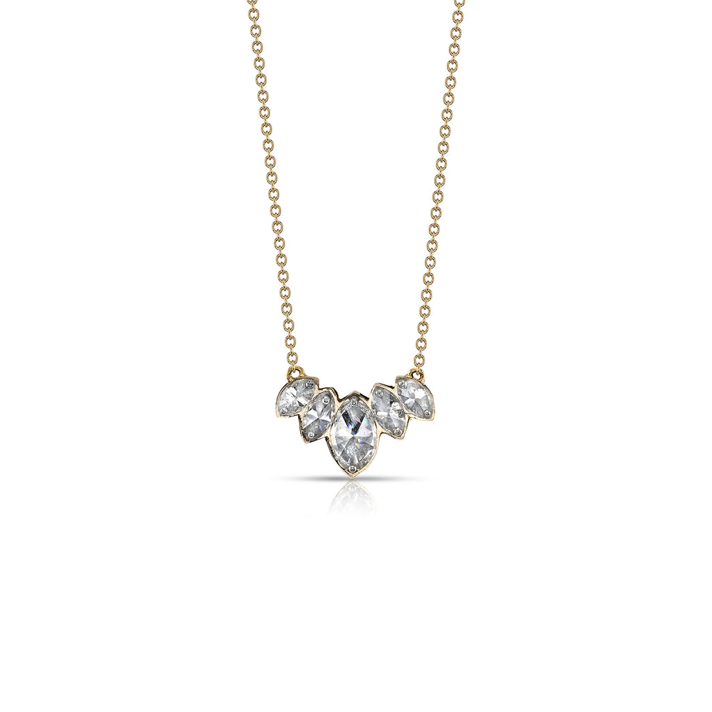 DRILLED MARQUIS DIAMOND NECKLACE