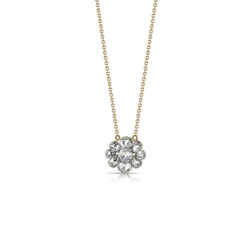 DRILLED ROSE CUT DIAMOND NECKLACE