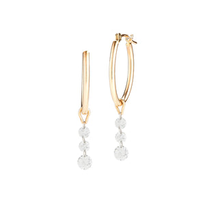 TRIO DIAMOND OVAL HOOPS