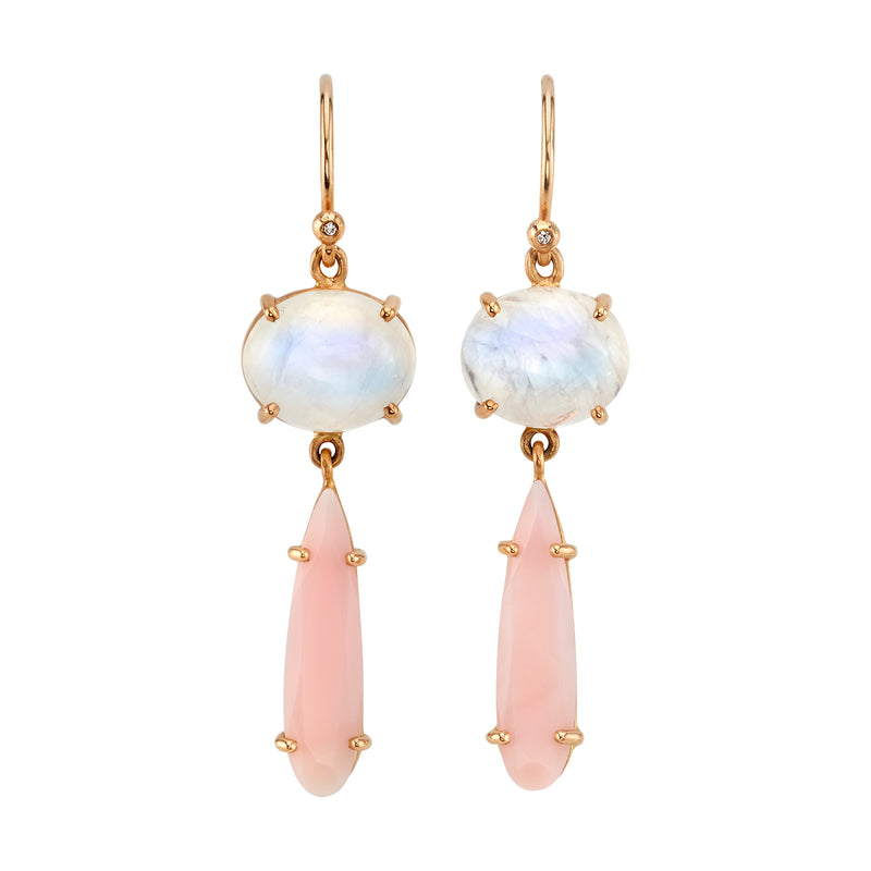 MOONSTONE AND OPAL EARRINGS