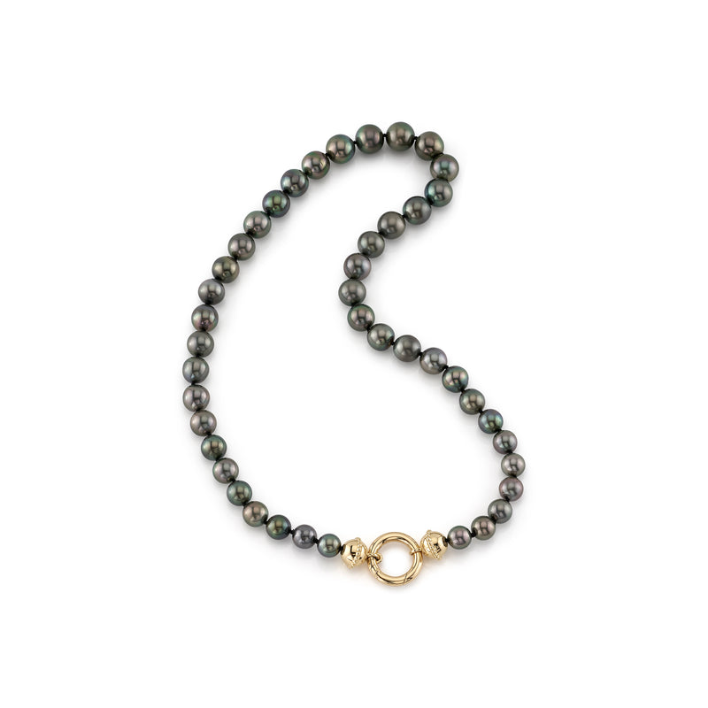 TAHITIAN PEARL NECKLACE WITH NANCY CLASP