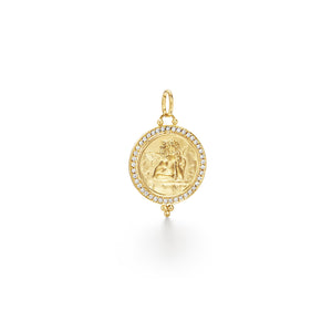 ANGEL PENDANT WITH PAVE - 16MM