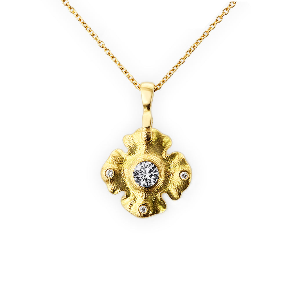 DIAMOND QUATREFOIL NECKLACE