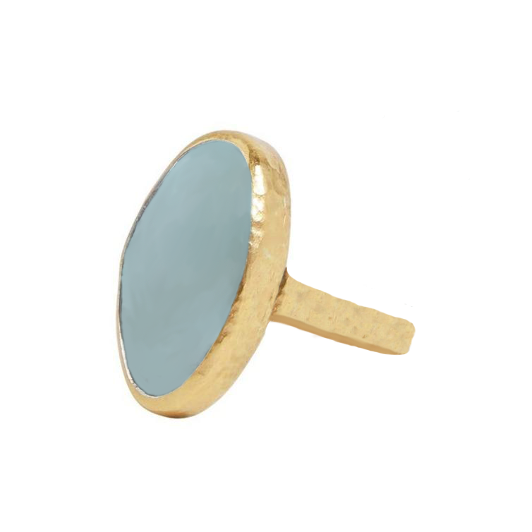 GURHAN AQUAMARINE IN 24K GOLD RING