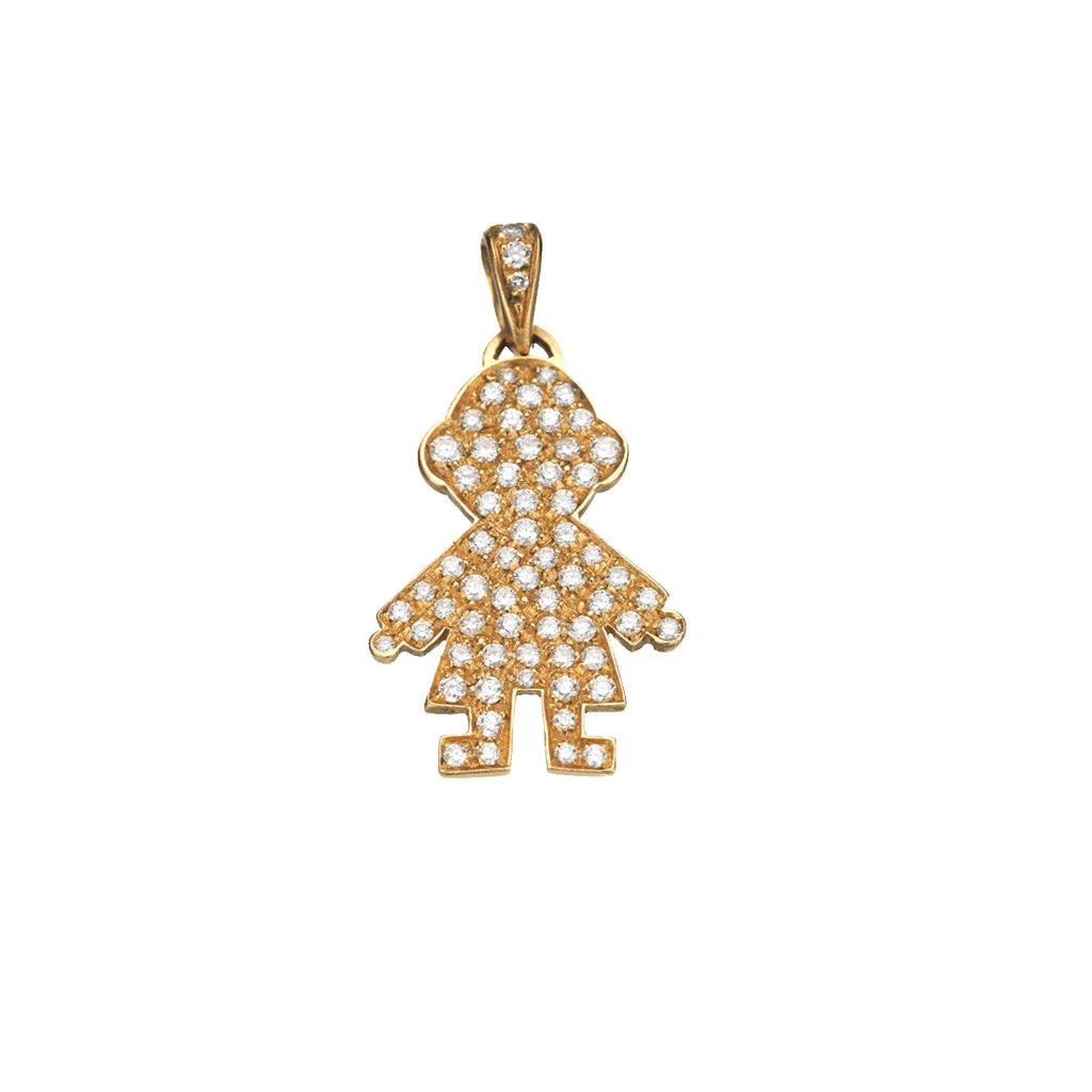 MINI PAVE BOY PENDANT