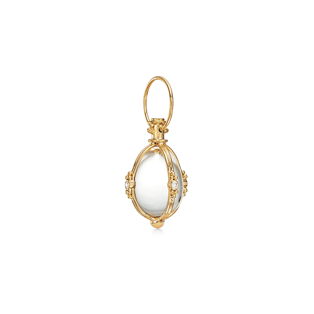 EXTRA SMALL CLASSIC AMULET WITH DIAMONDS