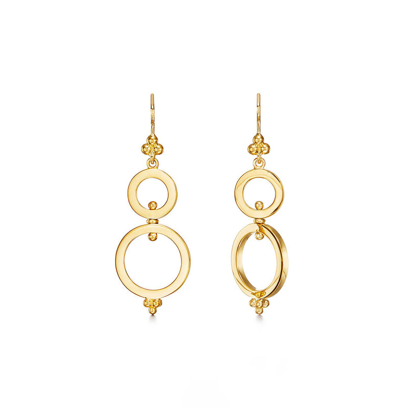 DOUBLE RING SPIN EARRINGS