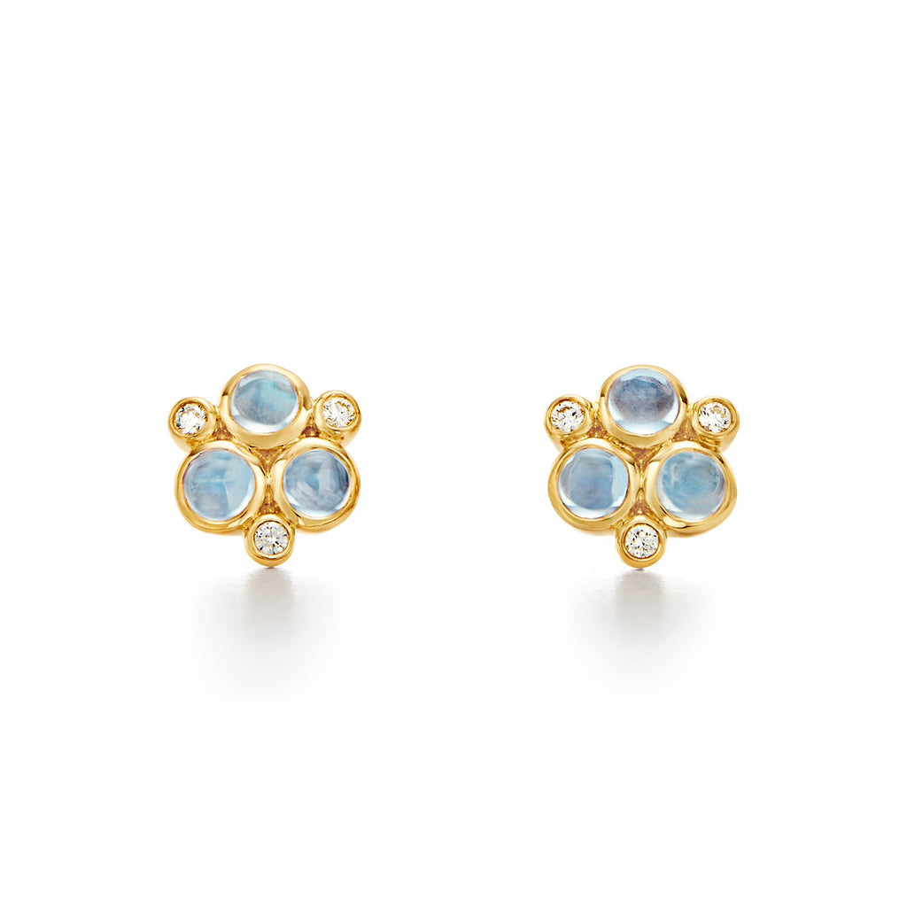 CLASSIC BLUE MOONSTONE GRANULATED EARRINGS
