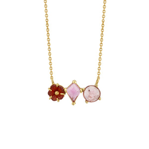 RIVERA FLOWER NECKLACE WITH TOURMALINE