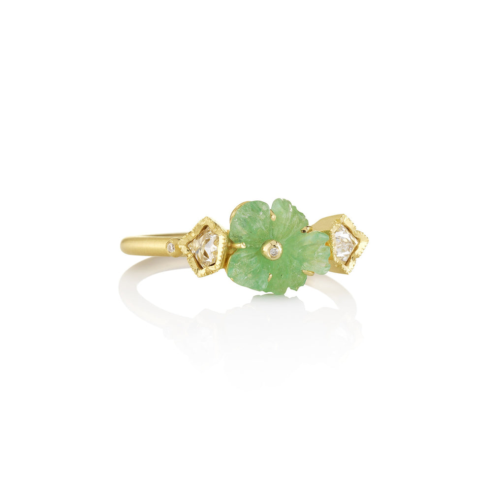 RIVERA FLOWER EMERALD RING
